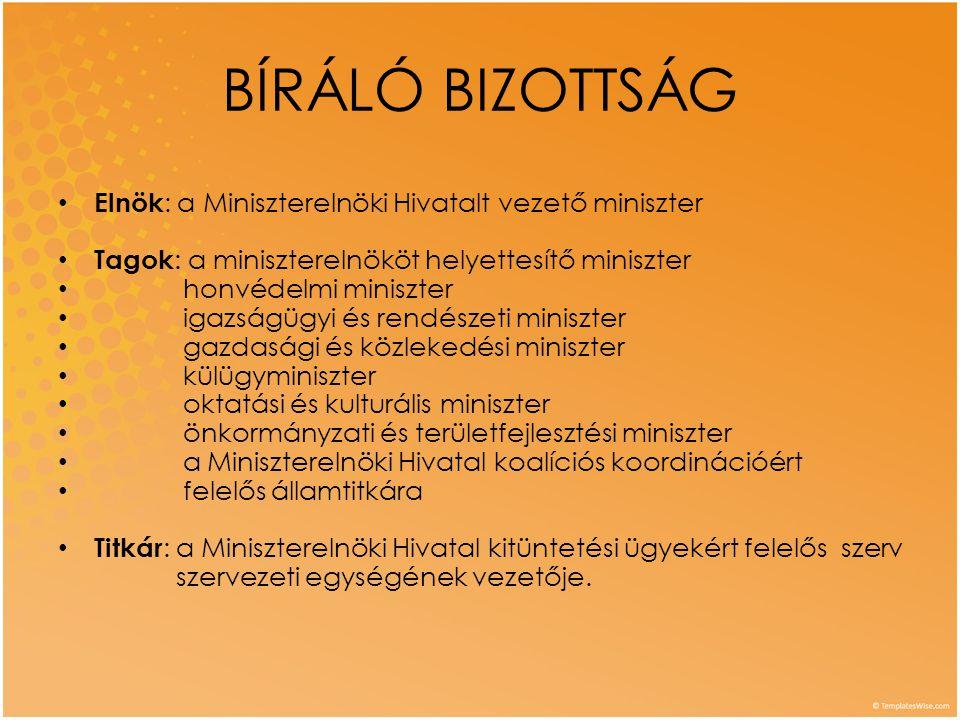 Magyar Köztársasági BRONZ Érdemkereszt polgári tagozat • Évente legfeljebb 600 adományozható.