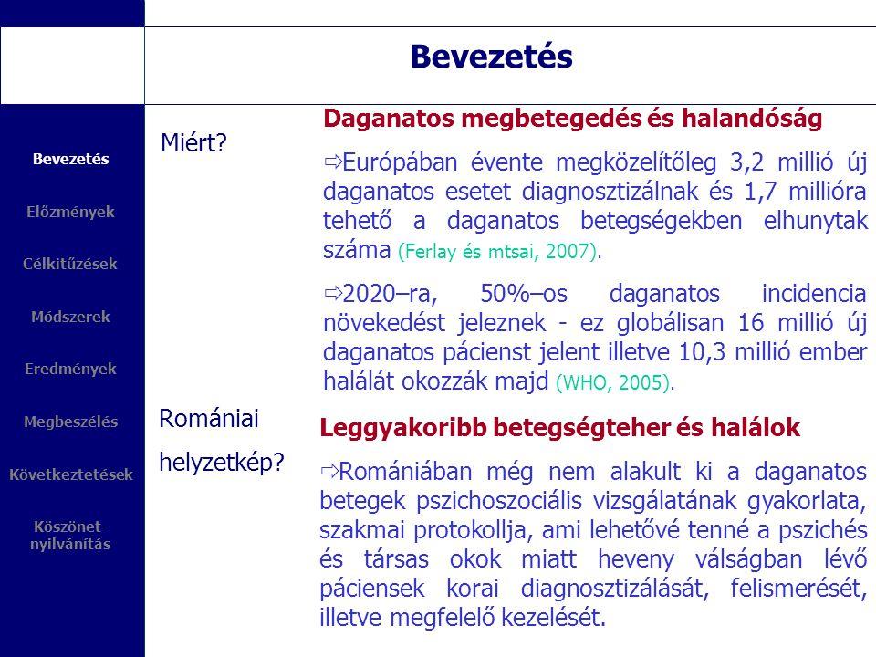 Bevezetés Miért? Romániai helyzetkép? Daganatos megbetegedés és halandóság  Európában évente megközelítőleg 3,2 millió új daganatos esetet diagnoszti
