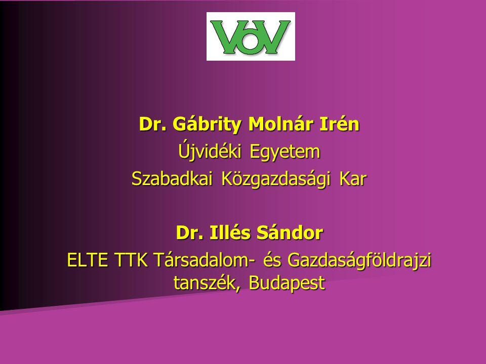 Dr. Gábrity Molnár Irén Újvidéki Egyetem Szabadkai Közgazdasági Kar Dr.