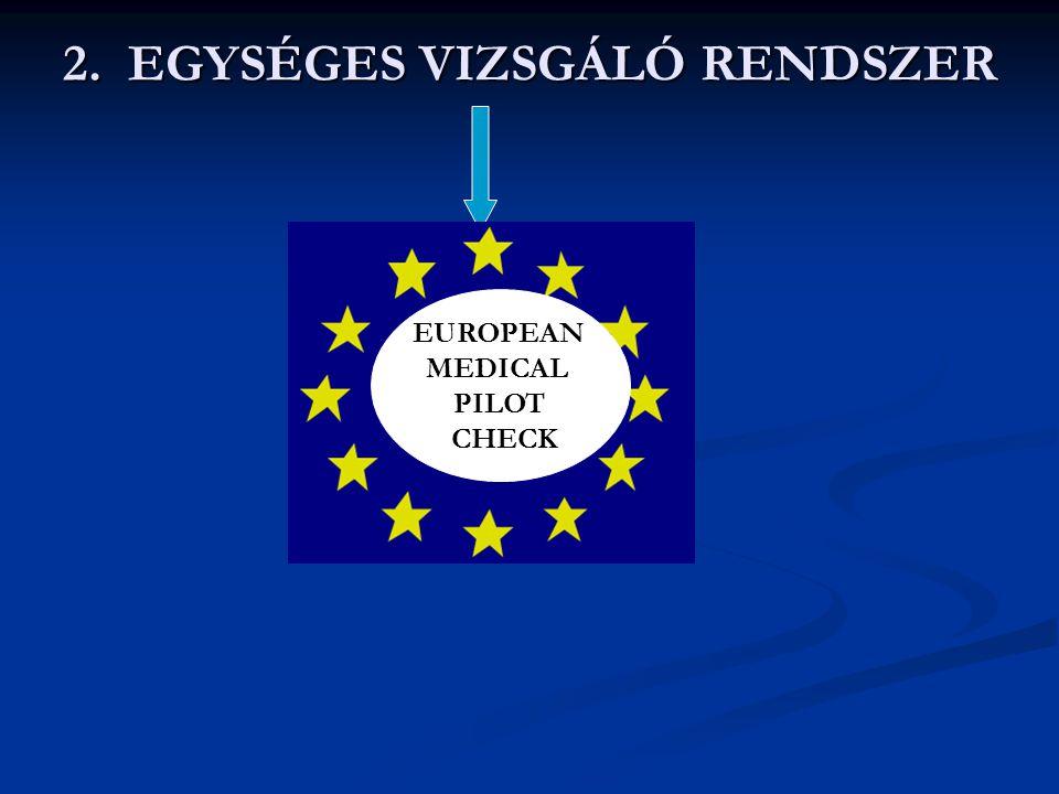 2. EGYSÉGES VIZSGÁLÓ RENDSZER EUROPEAN MEDICAL PILOT CHECK