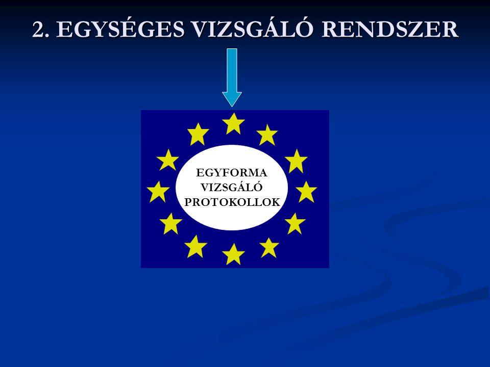 2. EGYSÉGES VIZSGÁLÓ RENDSZER EGYFORMA VIZSGÁLÓ PROTOKOLLOK