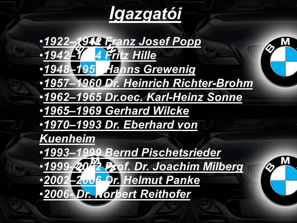 •1922–1942 Franz Josef Popp •1942–1944 Fritz Hille •1948–1957 Hanns Grewenig •1957–1960 Dr. Heinrich Richter-Brohm •1962–1965 Dr.oec. Karl-Heinz Sonne
