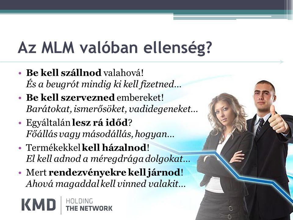 Az MLM valóban ellenség.•Be kell szállnod valahová.