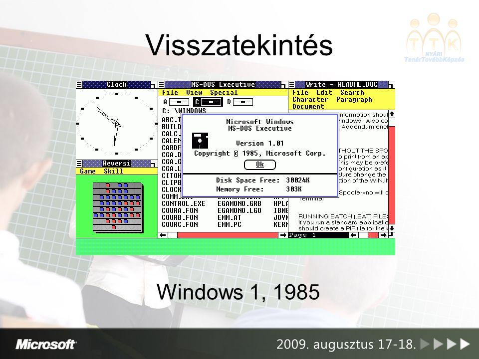 Visszatekintés Windows 1, 1985