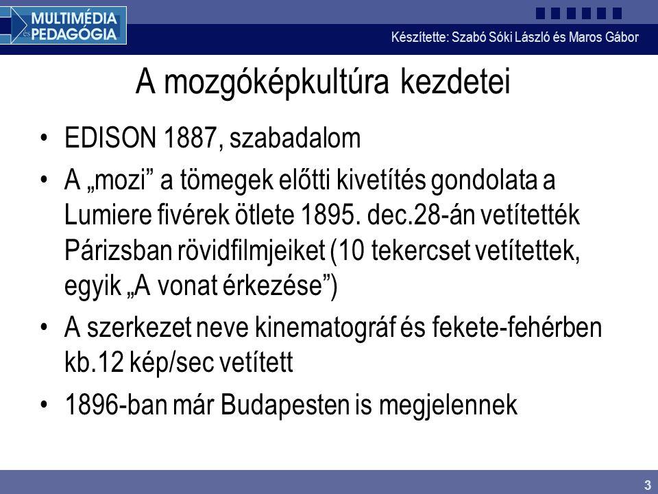 Készítette: Szabó Sóki László és Maros Gábor 14 Színszabványok •Első színes TV-rendszer- USA •NTSC-1955-től sugároznak ilyen jelet •Egy színsegédvivőt modulálnak a két szín- különbségi jellel, kvadratúra modulációval •Jelenleg is elsősorban USA és Japán használja •F szsv=3,57 MHz, majd 4,43 MHz