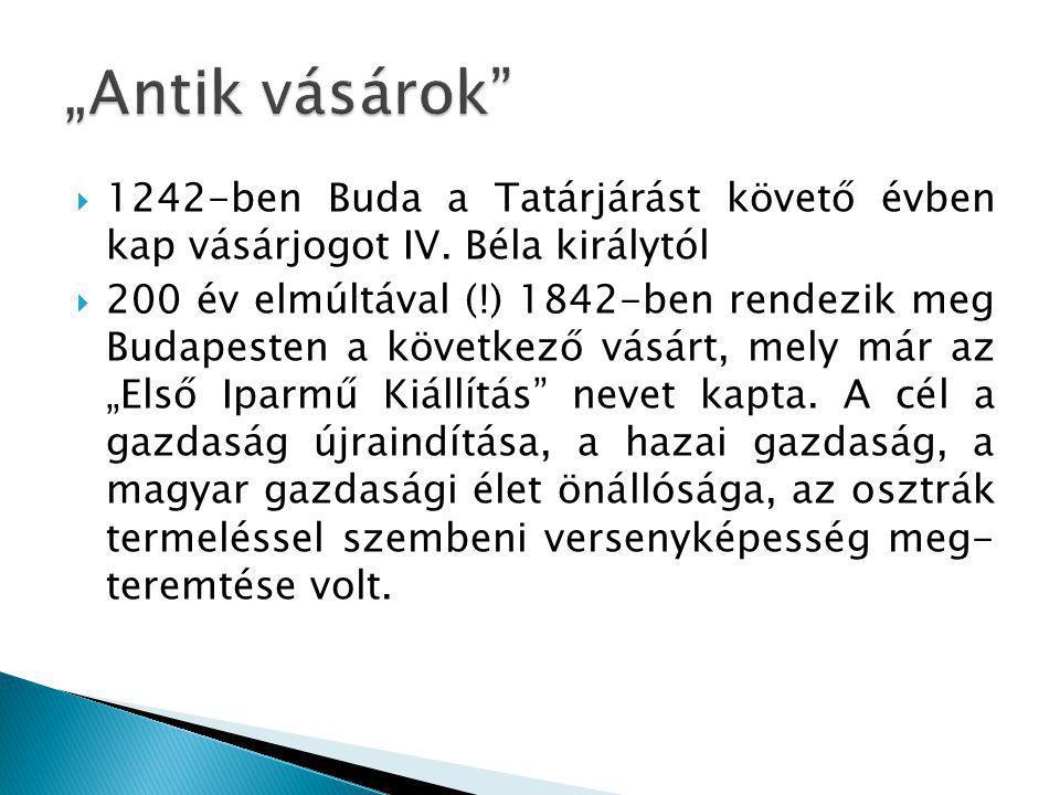  1242-ben Buda a Tatárjárást követő évben kap vásárjogot IV.