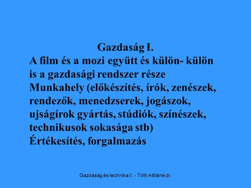 Gazdaság és technika II.- Tóth Attiláné dr. Gazdaság II.