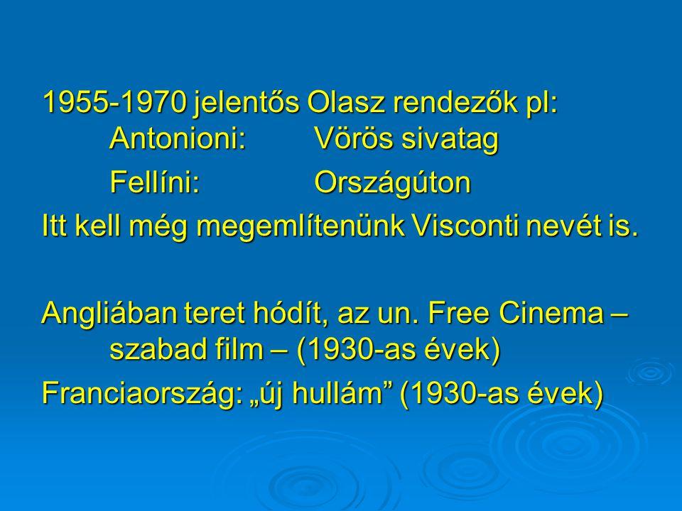 Európában hanyatlik a filmművészet. Olaszország: 1920-tól Svédország: 1925-től Németország: 1932-től Franciaország és Oroszorszá megtartja megkülönböz