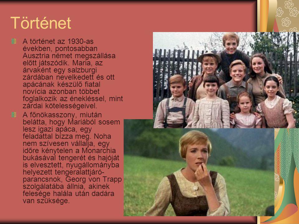 Történet A történet az 1930-as években, pontosabban Ausztria német megszállása előtt játszódik. Maria, az árvaként egy salzburgi zárdában nevelkedett