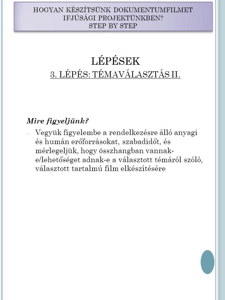 LÉPÉSEK 4.