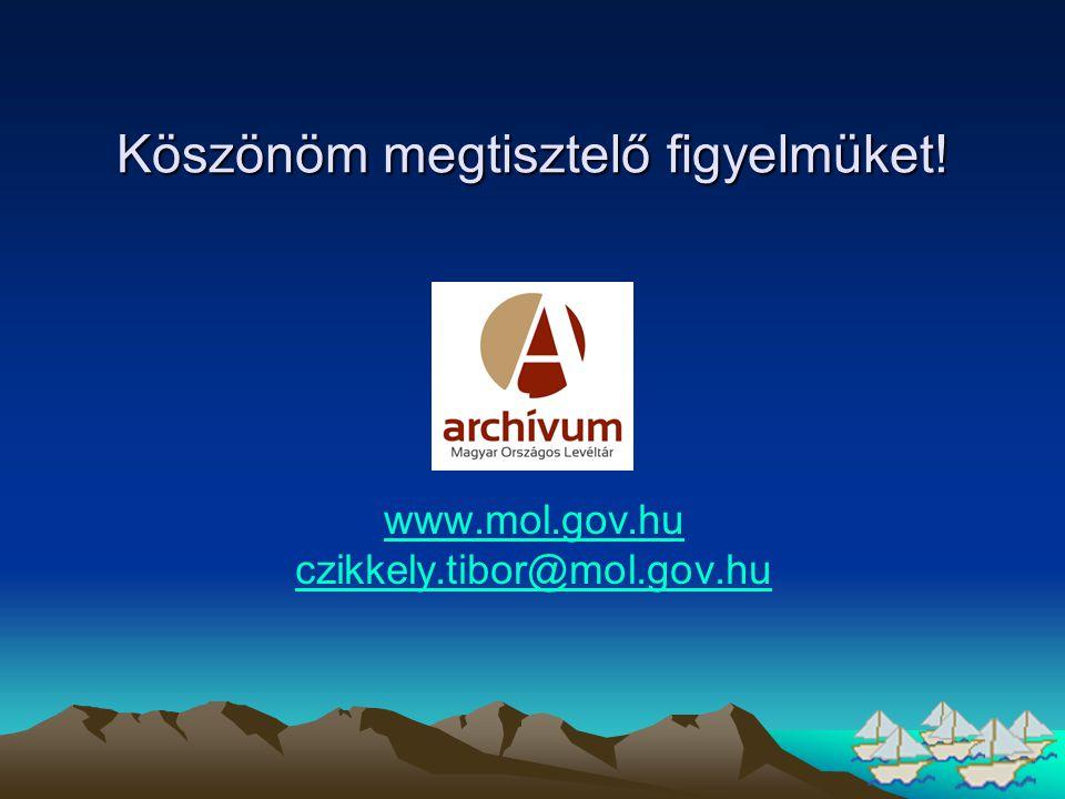 Köszönöm megtisztelő figyelmüket! www.mol.gov.hu czikkely.tibor@mol.gov.hu