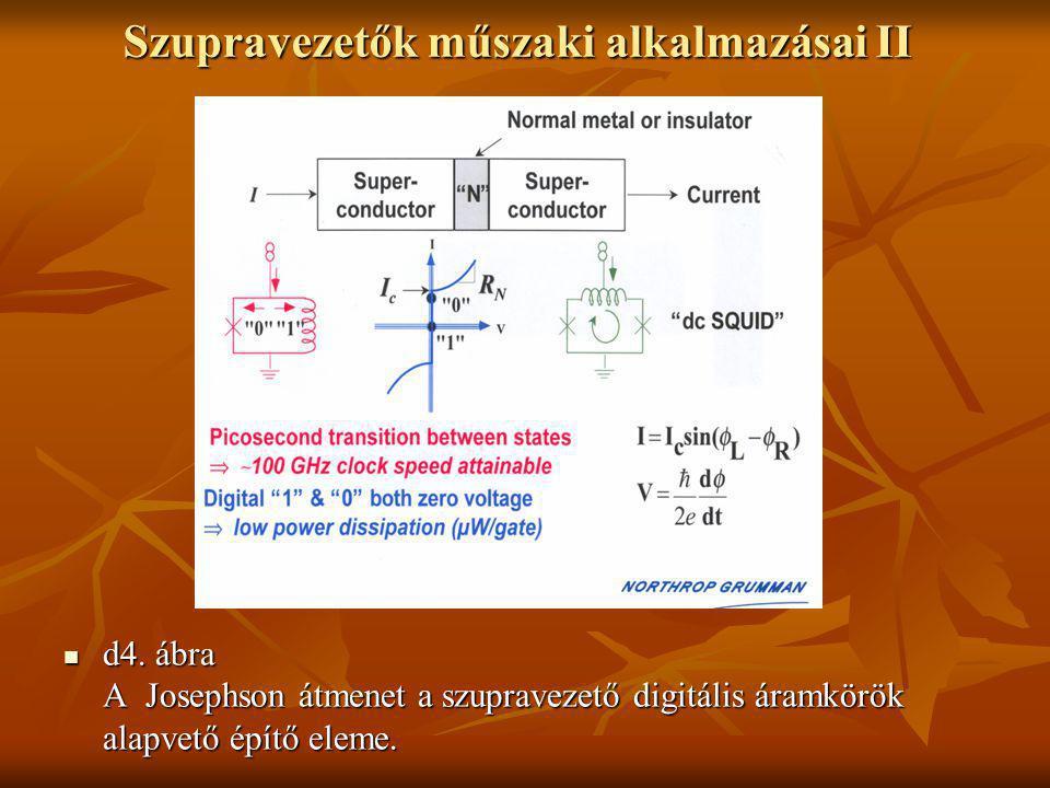 Szupravezetők műszaki alkalmazásai II  d4. ábra A Josephson átmenet a szupravezető digitális áramkörök alapvető építő eleme.