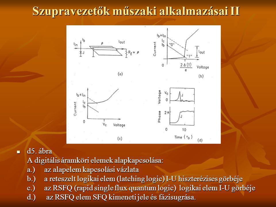 Szupravezetők műszaki alkalmazásai II  d5. ábra A digitális áramköri elemek alapkapcsolása: a.) az alapelem kapcsolási vázlata b.)a reteszelt logikai