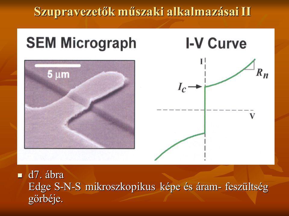 Szupravezetők műszaki alkalmazásai II  d7. ábra Edge S-N-S mikroszkopikus képe és áram- feszültség görbéje.