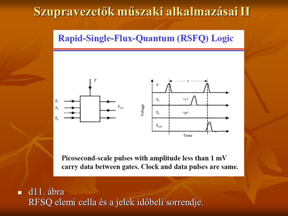 Szupravezetők műszaki alkalmazásai II  d11. ábra RFSQ elemi cella és a jelek időbeli sorrendje.