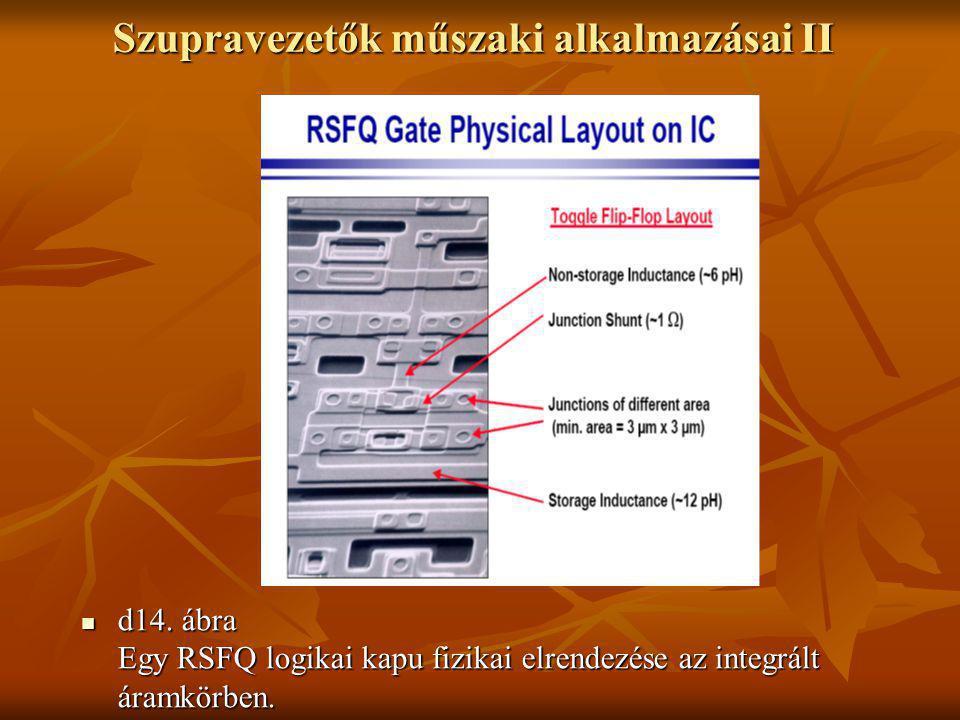 Szupravezetők műszaki alkalmazásai II  d14. ábra Egy RSFQ logikai kapu fizikai elrendezése az integrált áramkörben.
