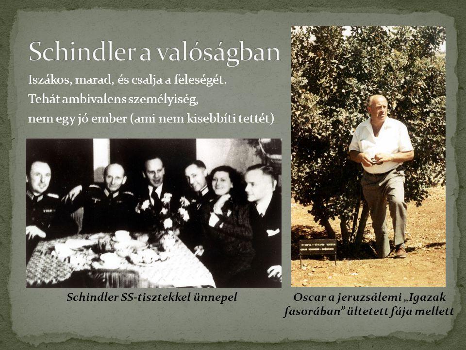 """Schindler és Amon Goeth valahol """"rokonlelkek Két ennyire hasonló ember közül miért lett az egyikből gyilkos, a másikból megmentő?"""