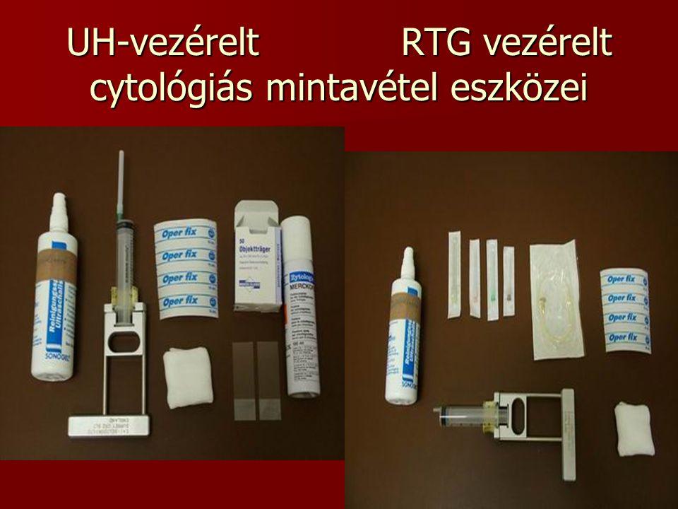 UH-vezérelt RTG vezérelt cytológiás mintavétel eszközei