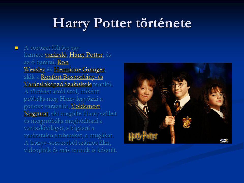 Harry Potter és a Halál Ereklyéi  Legújabb része a Harry Potter sorozatoknak.
