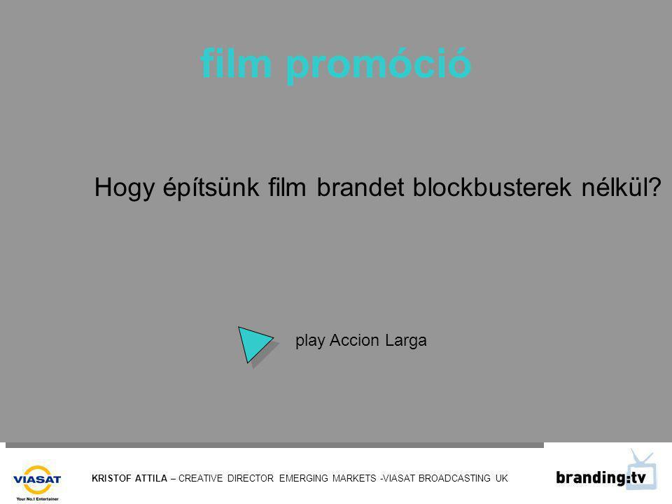 KRISTOF ATTILA – CREATIVE DIRECTOR EMERGING MARKETS -VIASAT BROADCASTING UK film promóció Hogy építsünk film brandet blockbusterek nélkül.