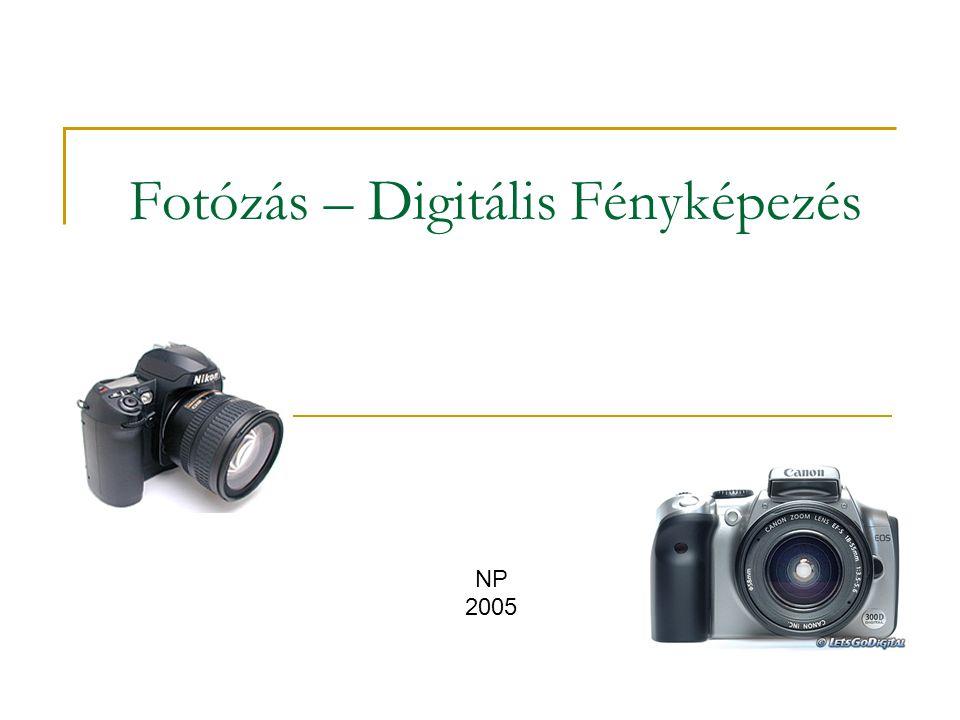 """Fotográfiai alapfogalmak hagyományos és digitális fotózásra egyaránt """"Akármilyen drága a fényképezőgép, akármilyen csúcstechnika van benne, lényegét tekintve nem más, mint a film tartására szolgáló, fénymenteset lezárt doboz.  Robert Caputo  A fényképezőgép objektívje a tárgyakról valódi, fordított állású, kicsinyített képet készít a filmen, vagy fényérzékeny lemezen (CCD/CMOS)"""