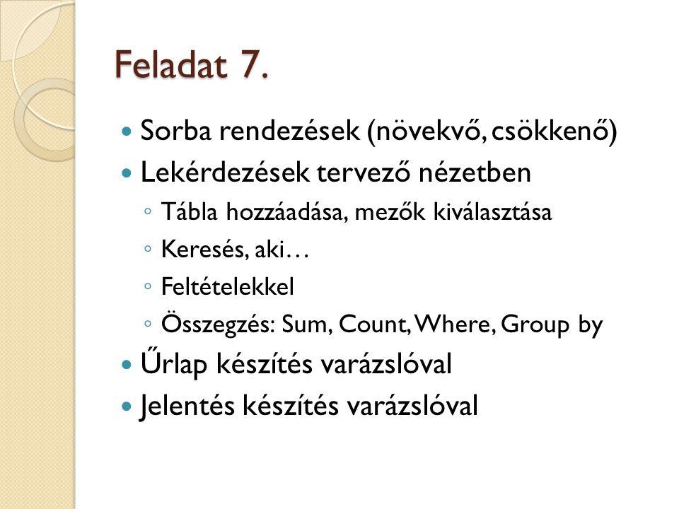 Feladat 7.