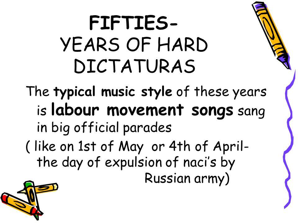 "Old movement songs, like "" Internacionálé , ""Marseilles New hungarian songs, like: ""Itt van május elseje ( ""It's 1th of May ) Russian labour movement and partisan songs like: Poljuska, Az amuri partizánok dala ( Partisan song from Amur- side), Bunkócska And songs of ""kuruc / Rákóczi- rebellion age ( 1703-11) Csínom Palkó, Balogh Ádám nótája."