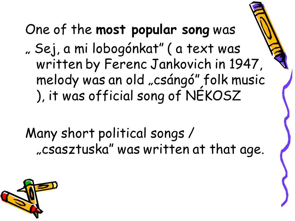 Famous band: Omega Many songs On youtube Like… Ha én szél lehetnék ( If I could be a wind) Petróleum lámpa Gammapolis….