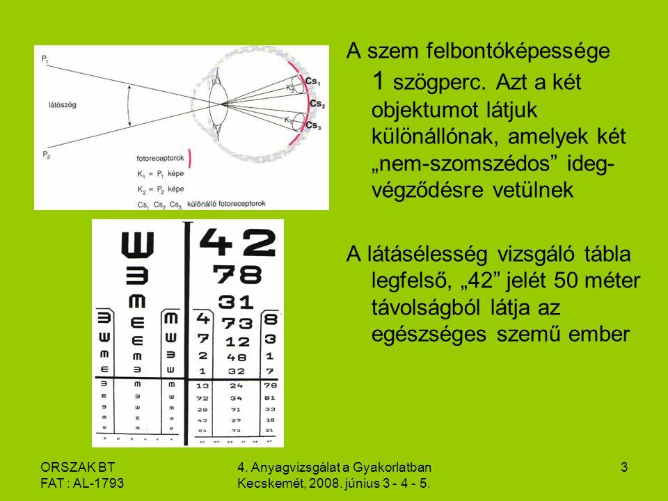 ORSZAK BT FAT : AL-1793 4.Anyagvizsgálat a Gyakorlatban Kecskemét, 2008.