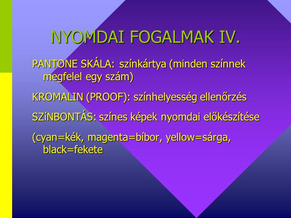 NYOMDAI FOGALMAK III.