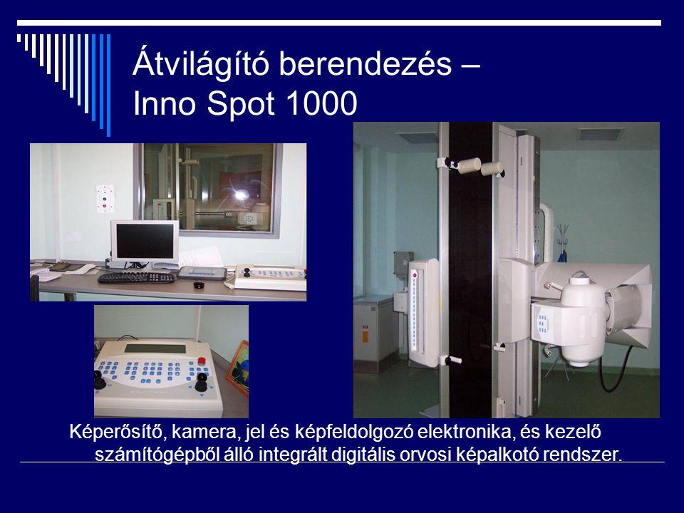Átvilágító berendezés – Inno Spot 1000 Képerősítő, kamera, jel és képfeldolgozó elektronika, és kezelő számítógépből álló integrált digitális orvosi k