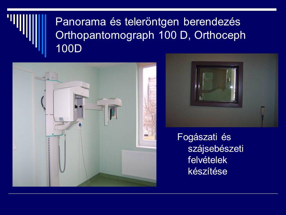Panorama és teleröntgen berendezés Orthopantomograph 100 D, Orthoceph 100D Fogászati és szájsebészeti felvételek készítése