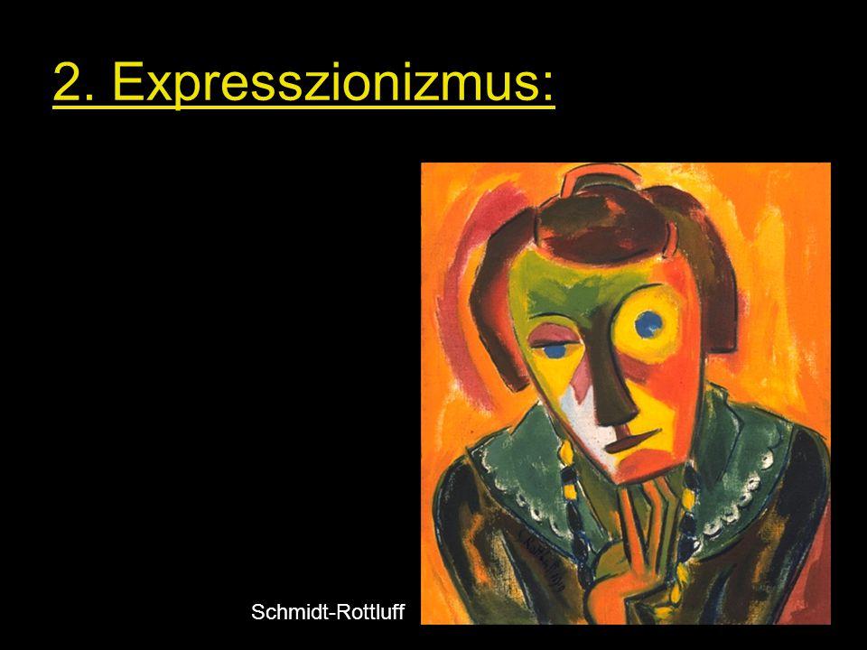 Torzított formák, zaklatott vonalvezetés, nyers színek Heckel Schmidt-Rottluff