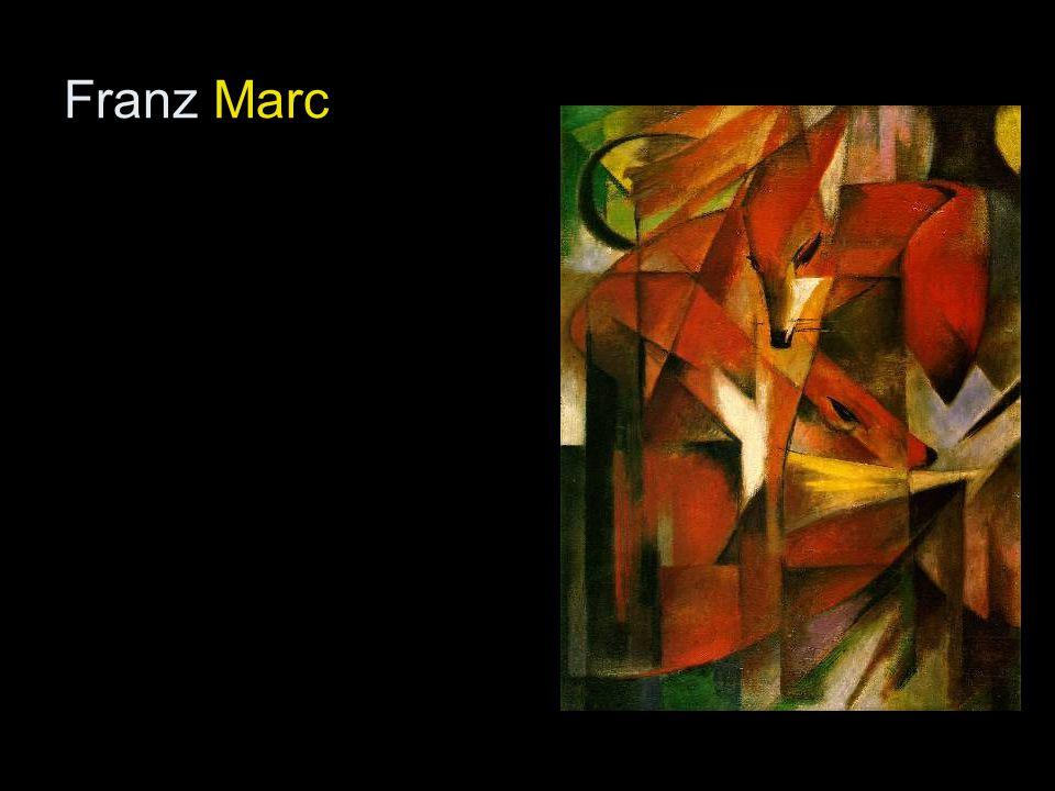 - Franz Marc: A kék ló, 1911.