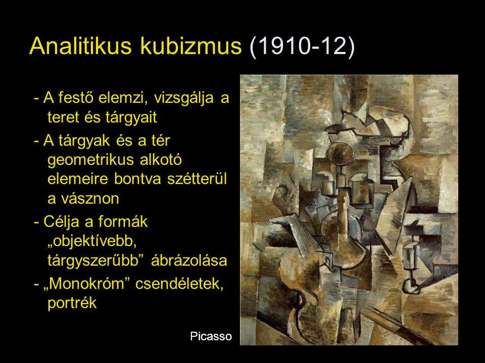 - Több nézőpont egyszerre: szimultaneizmus Picasso