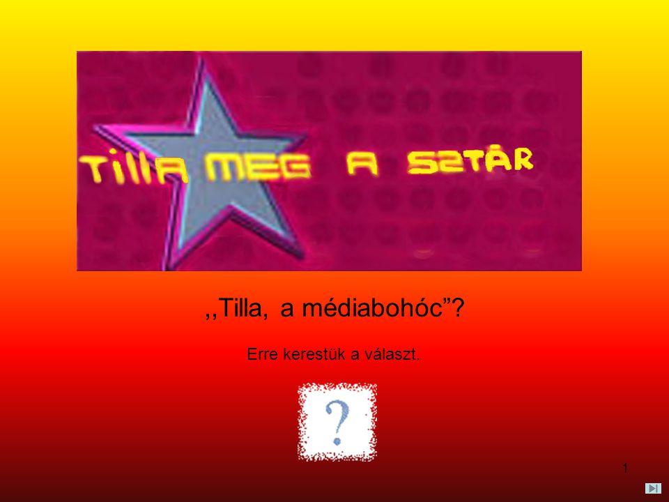 """1,,Tilla, a médiabohóc""""? Erre kerestük a választ."""