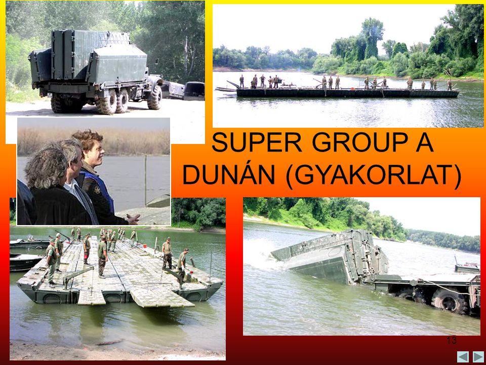 13 SUPER GROUP A DUNÁN (GYAKORLAT)