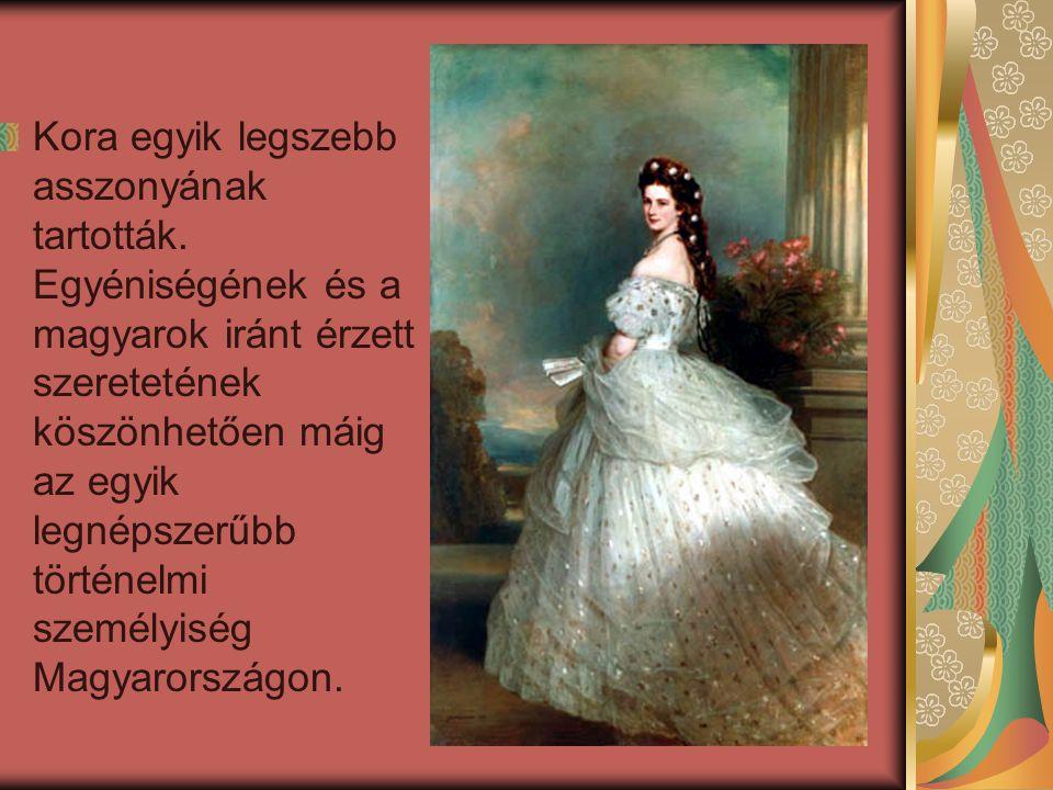 Hét testvéréhez hasonlóan Münchenben nőtt fel.Erzsébet és Ferenc József császár 1854.