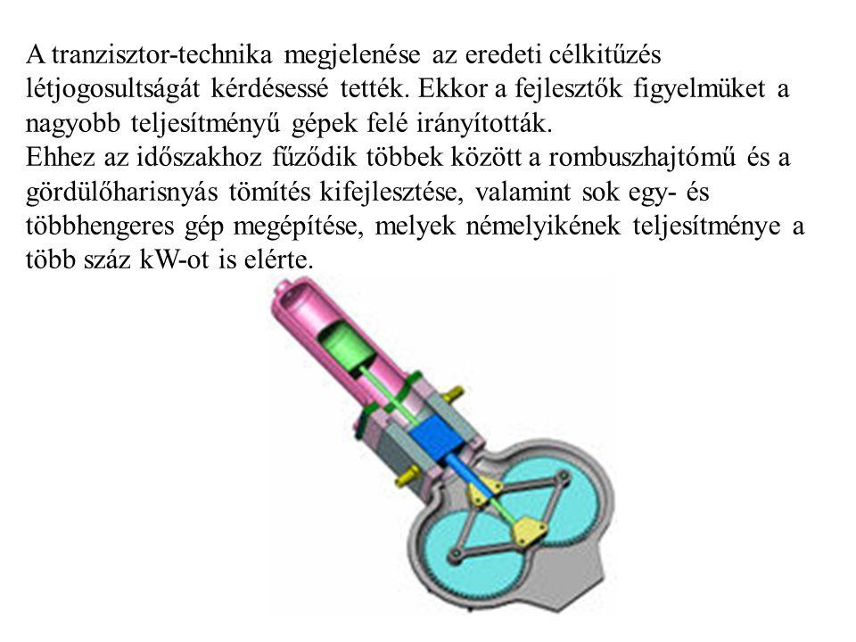 A tranzisztor-technika megjelenése az eredeti célkitűzés létjogosultságát kérdésessé tették. Ekkor a fejlesztők figyelmüket a nagyobb teljesítményű gé