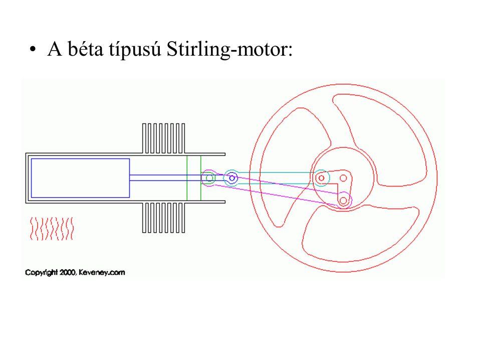 •A béta típusú Stirling-motor: