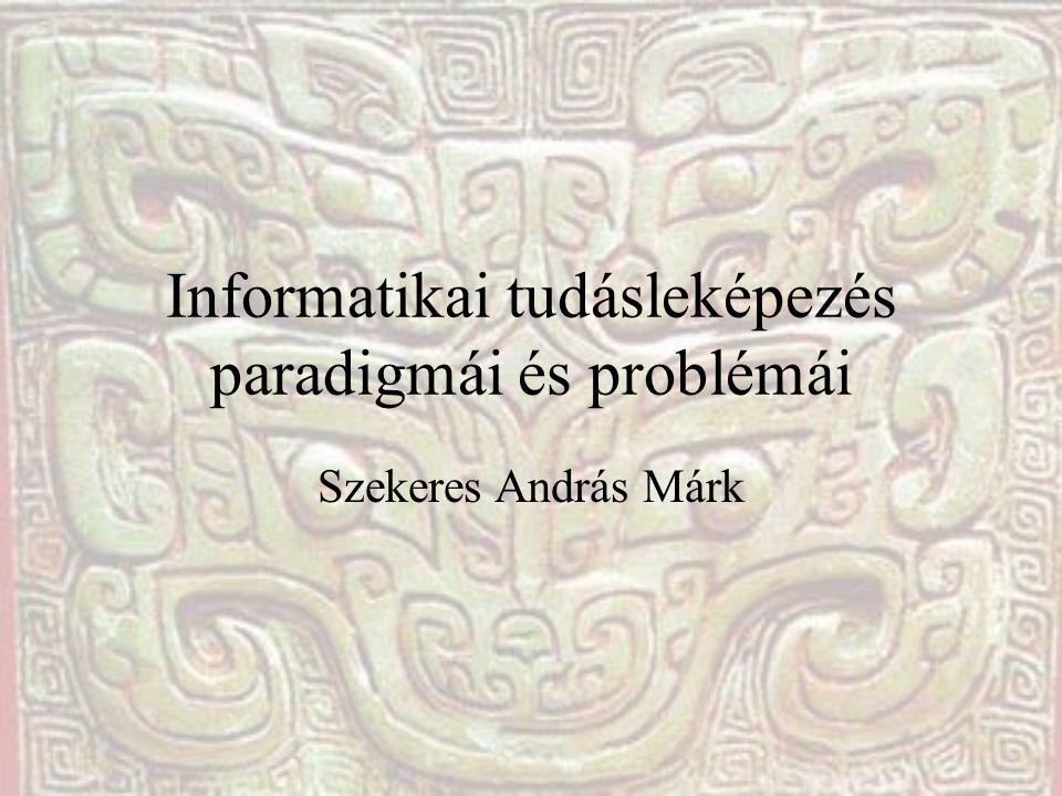 Informatikai tudásleképezés paradigmái és problémái Szekeres András Márk