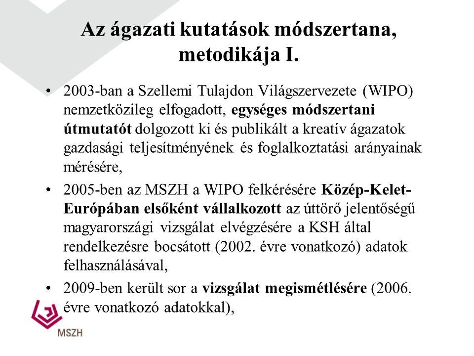 Az ágazati kutatások módszertana, metodikája I.
