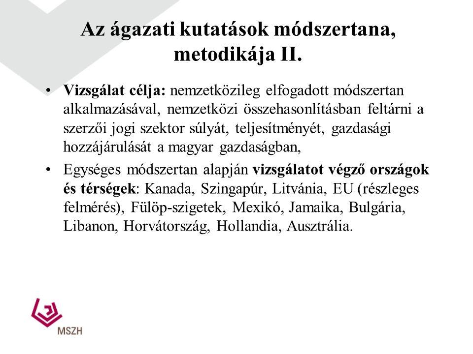 Az ágazati kutatások módszertana, metodikája II.