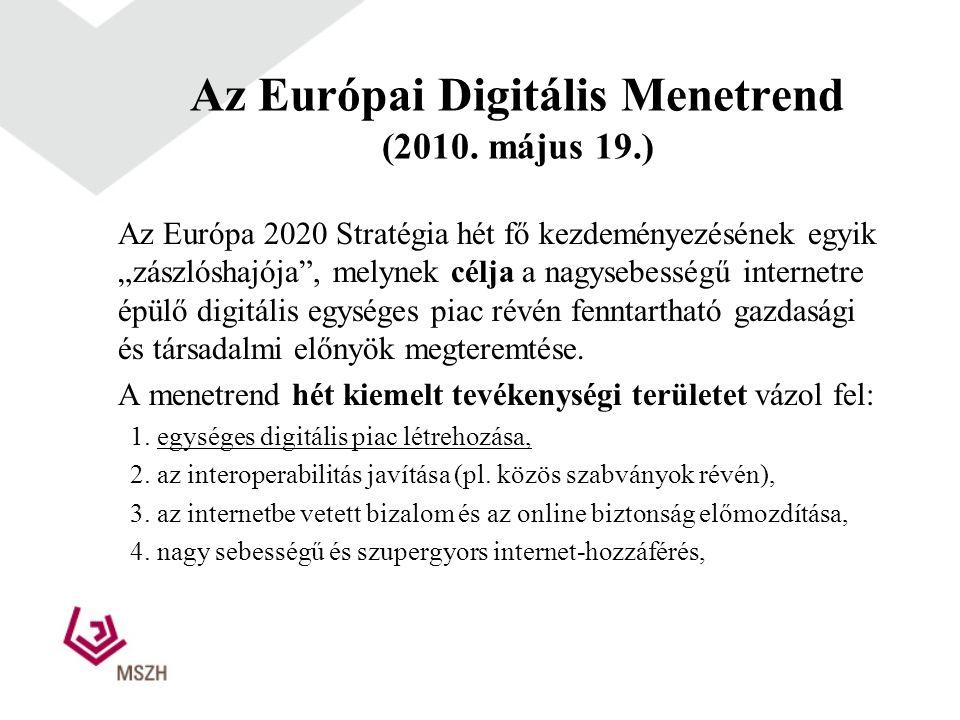 Az Európai Digitális Menetrend (2010.