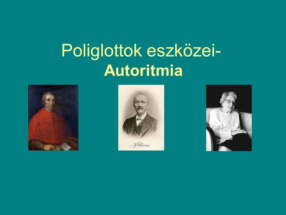 Poliglottok eszközei- Autoritmia