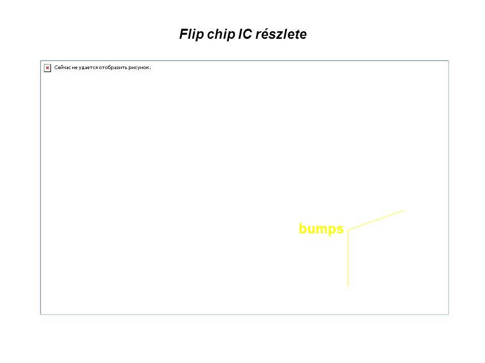 Flip chip IC részlete bumps