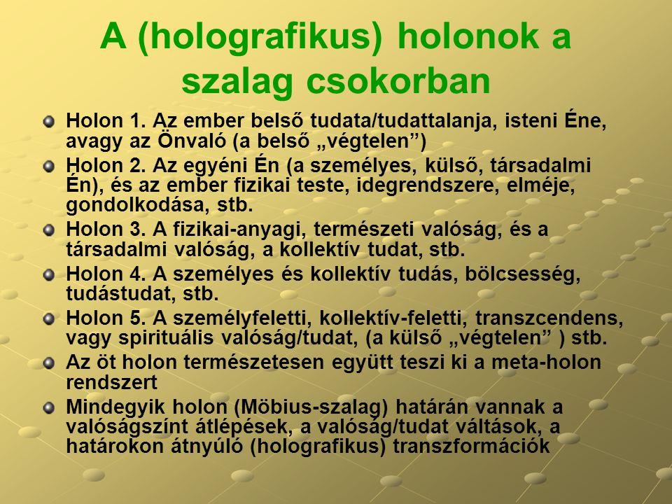 A (holografikus) holonok a szalag csokorban Holon 1.