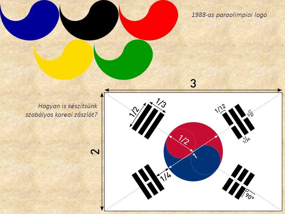 1988-as paraolimpiai logó Hogyan is készítsünk szabályos koreai zászlót?
