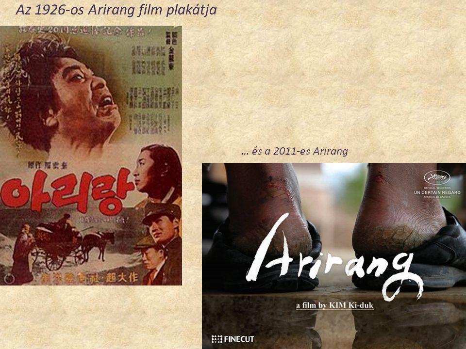 Az 1926-os Arirang film plakátja … és a 2011-es Arirang