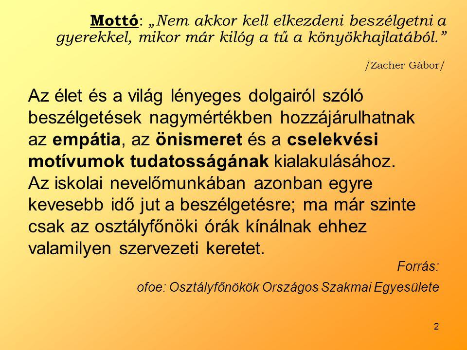3 Móra Ferenc Általános Iskola Szeged, Kolozsvári tér •Kb.